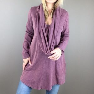 Lucy purple cowl neck layer tunic top